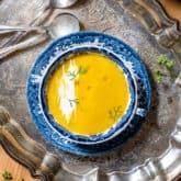 Velvety Carrot Ginger Soup Recipe – for Winter Warming.