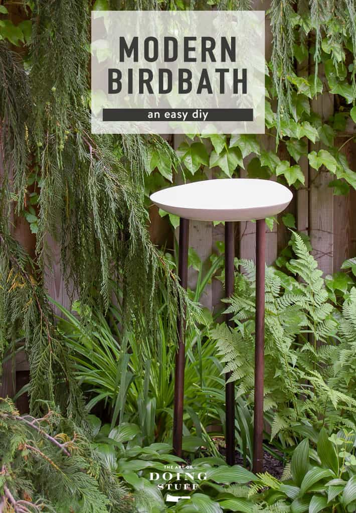 Attract Birds to Your Yard with a DIY Modern Birdbath.