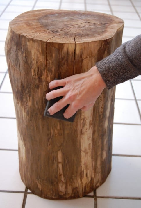Once Your Stump Is Smooth Wipe Over It With A Damp, Lint Free Cloth Or A  Tack Cloth.