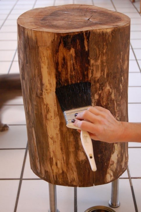 Stumped how to make a tree stump table the art of doing for Stump furniture making