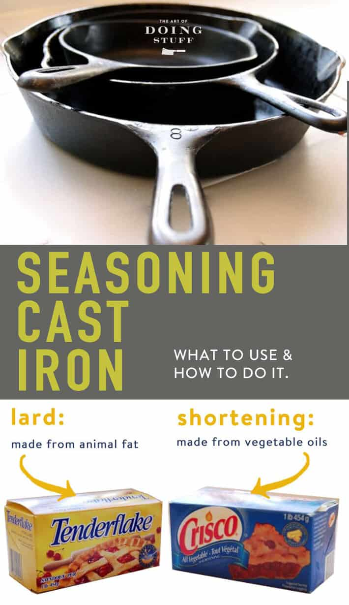 Even the CRUDDIEST of cast iron pans can be rehabilitated. How to season it and what to use.