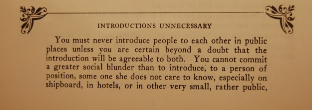 how to make an old fashioned introduction according to emily post