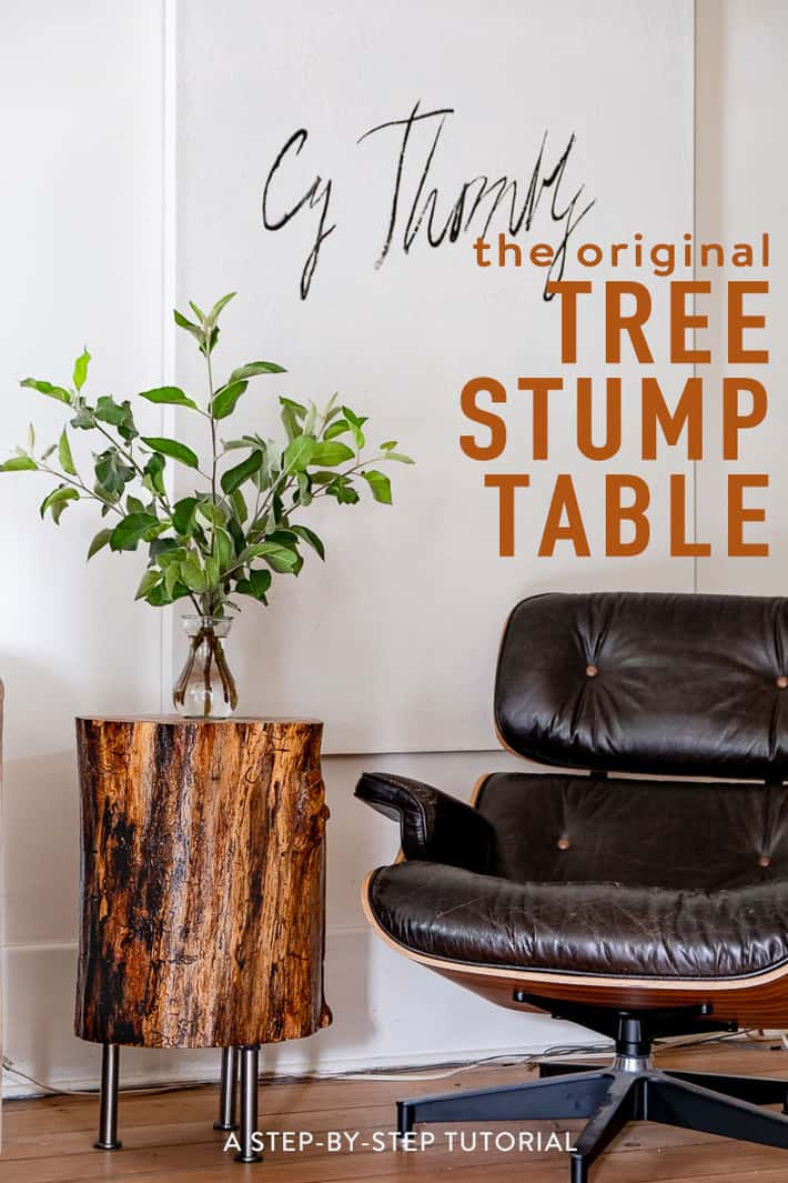 Stumped. How to Make a Tree Stump Table