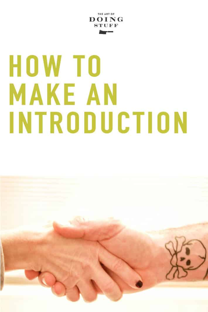 How to Make an Old Fashioned Introduction. (According to Emily Post)