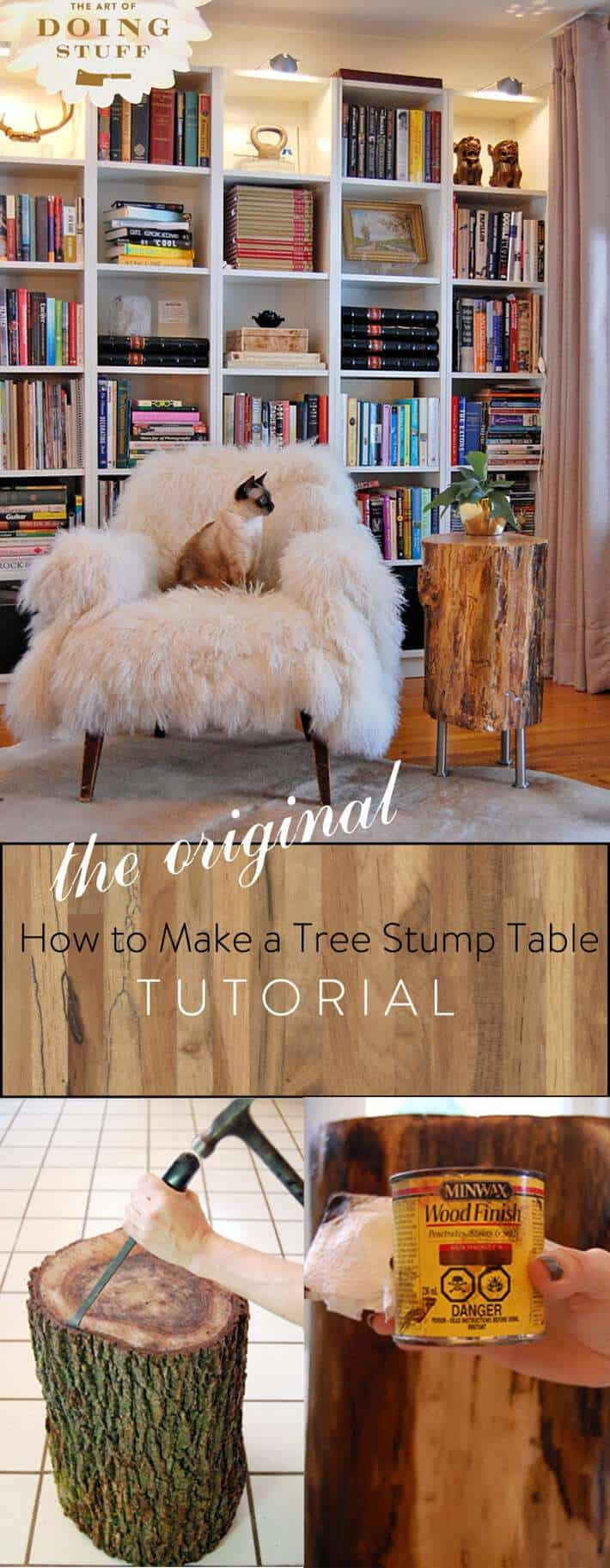 The Original Tree Stump Table Tutorial