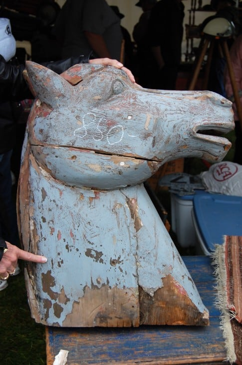 Very large wood horse head.  $850.