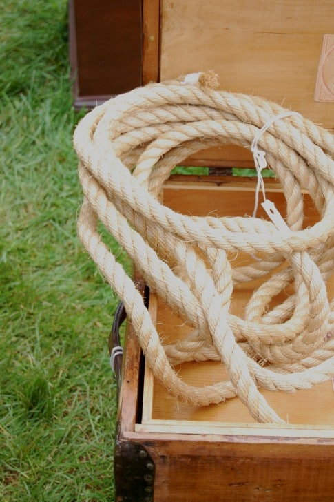 Yes. Even a coil of rope for sale. Balls & rope at the antique show. You'd pay considerably more for these things in a sex club. Plus they'd have the disadvantage of having cooties.