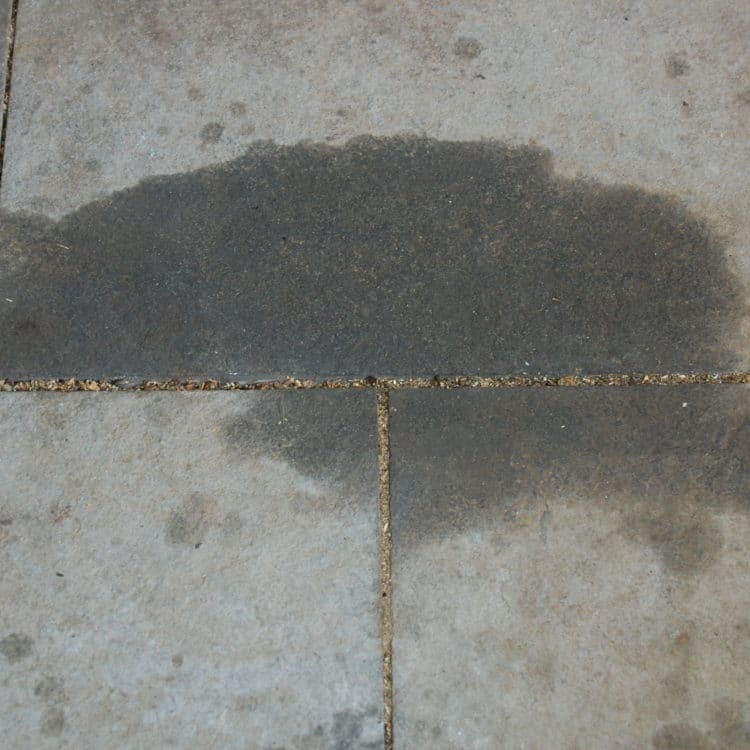 How to remove oil grease from cement or pavers