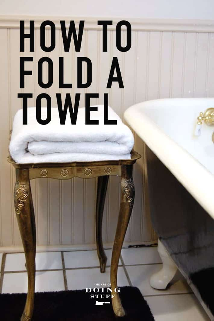 Want to know how to fold a towel properly? Follow these steps to a perfect, fluffy towel every time.  'Cause why waste stuff on useless things when there's important stuff like this to be done!
