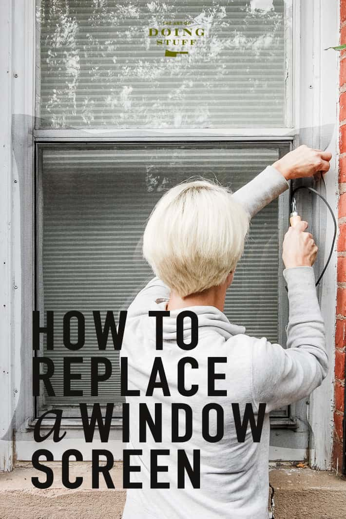 How to Replace a Window Screen.