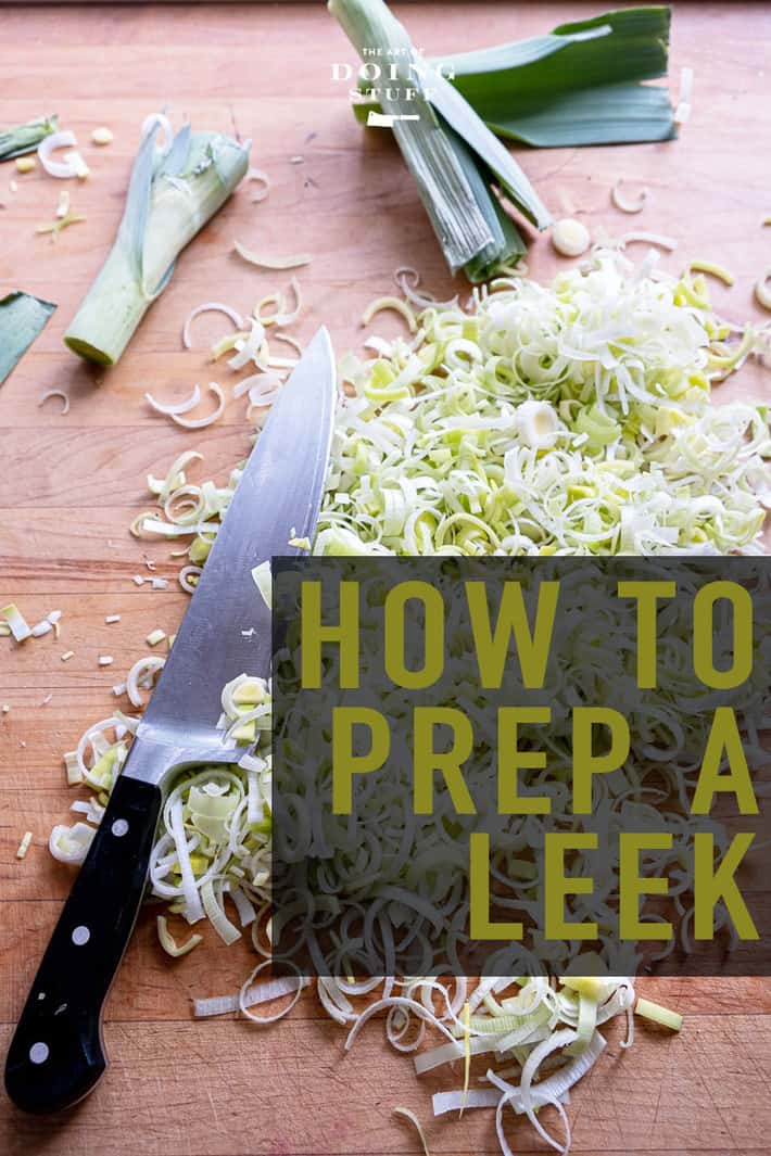 How to Prep and Cut Leeks.