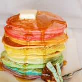 Rainbow Pancakes for Shrove Tuesday! Plus Two More Delicious Options.