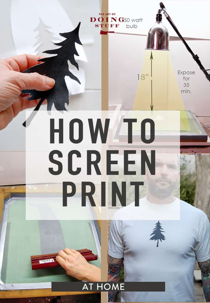 I am here to demystify the world of Screen Printing for you. If you can master this, you will UP your DIYer credibility by 10 fold. And let me tell you a secret. You CAN master this. Learn to screen print at home now!