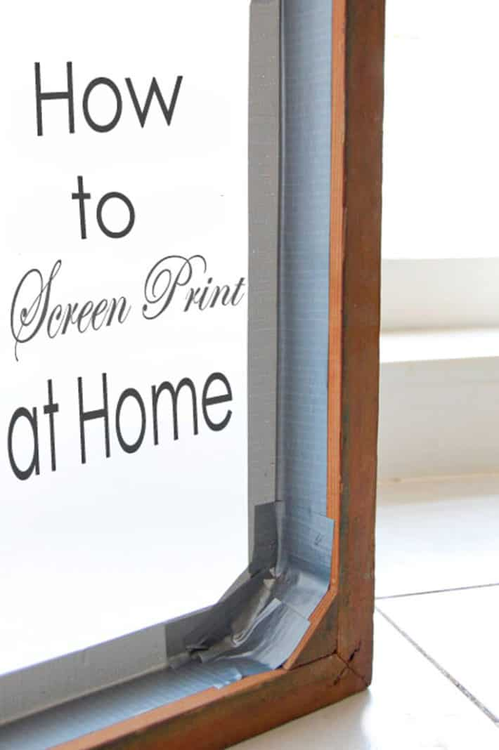 How to screen print at home written on the inside of a printing frame.