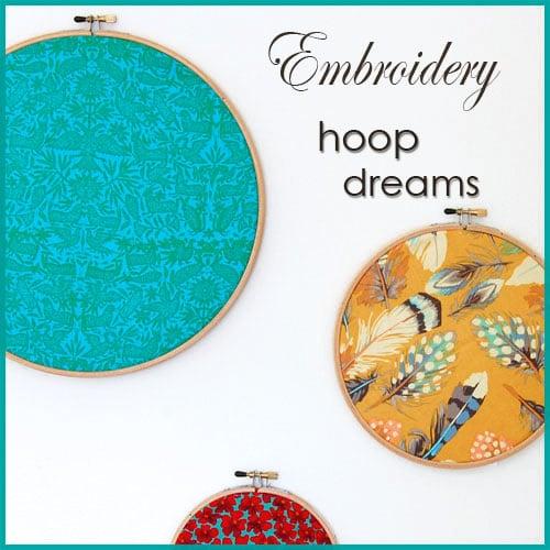 Easy Embroidery Hoop Art.