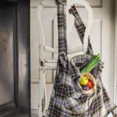 Turn a Flannel Shirt into a Reuseable Grocery Bag.