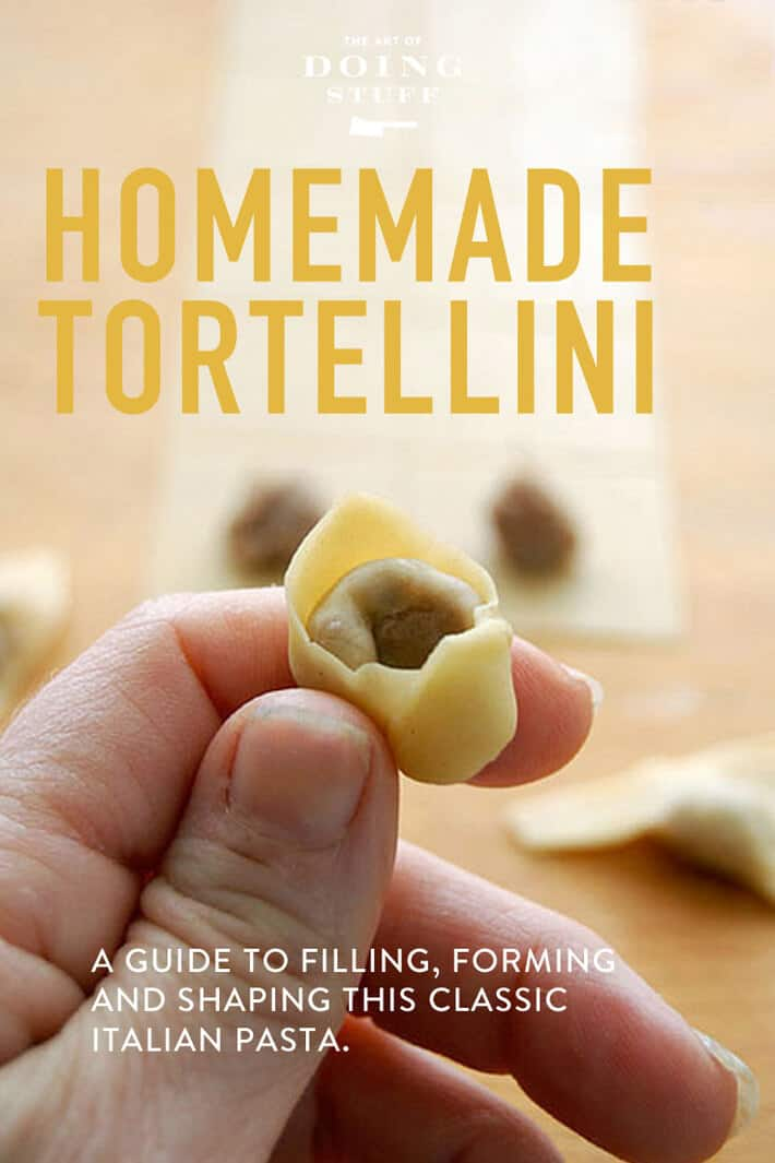 Tortellini!  Make these classic little Italian pastas (which freeze perfectly by the way).  Learn how to make the filling, how to shape them and what to serve the with. Yum.