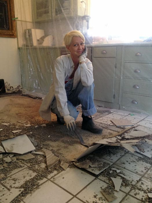 Ripping Out Ceramic Tile Floor In A Relaxed Amp Elegant