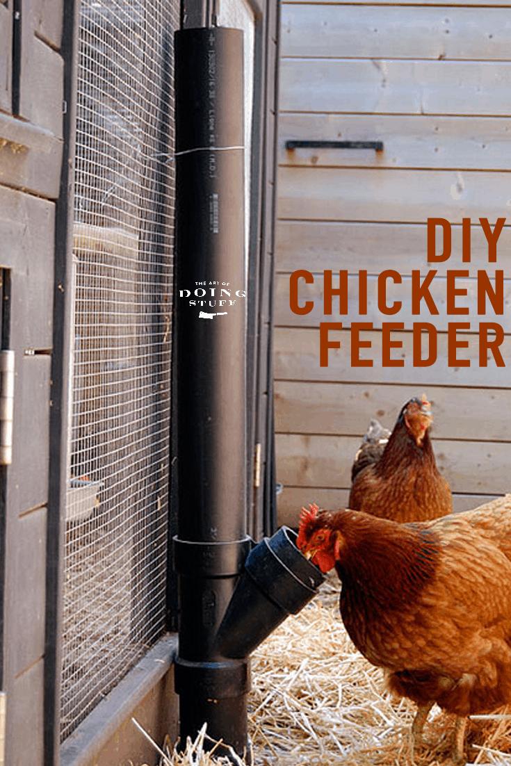 DIY No Spill Chicken Feeder.