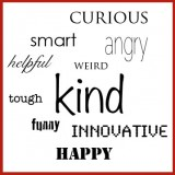 What single word would you use to describe yourself?