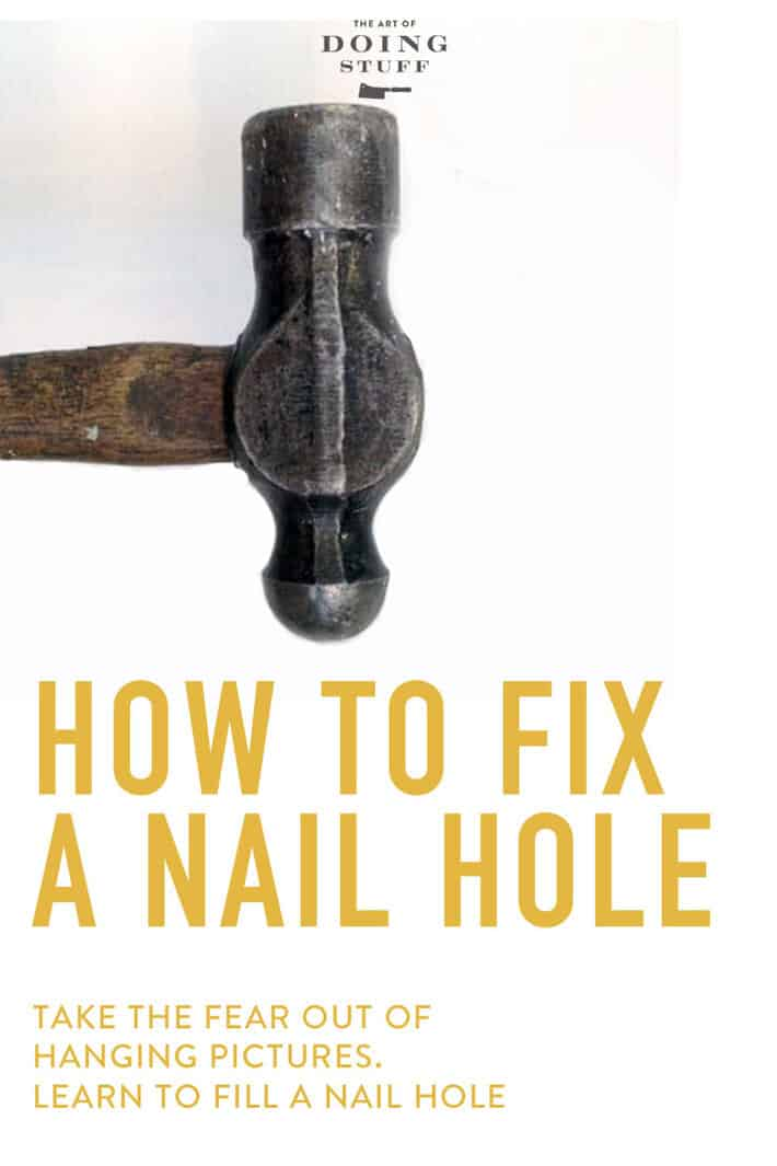 Afraid of hanging pictures because you're afraid of nail holes?  Don't be. They're an easy fix.  How easy? The entire video tutorial is only 30 seconds.