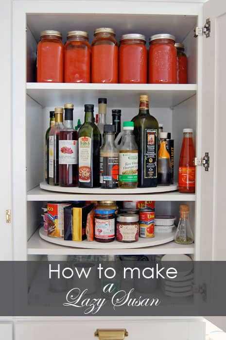 how to make a lazy susan