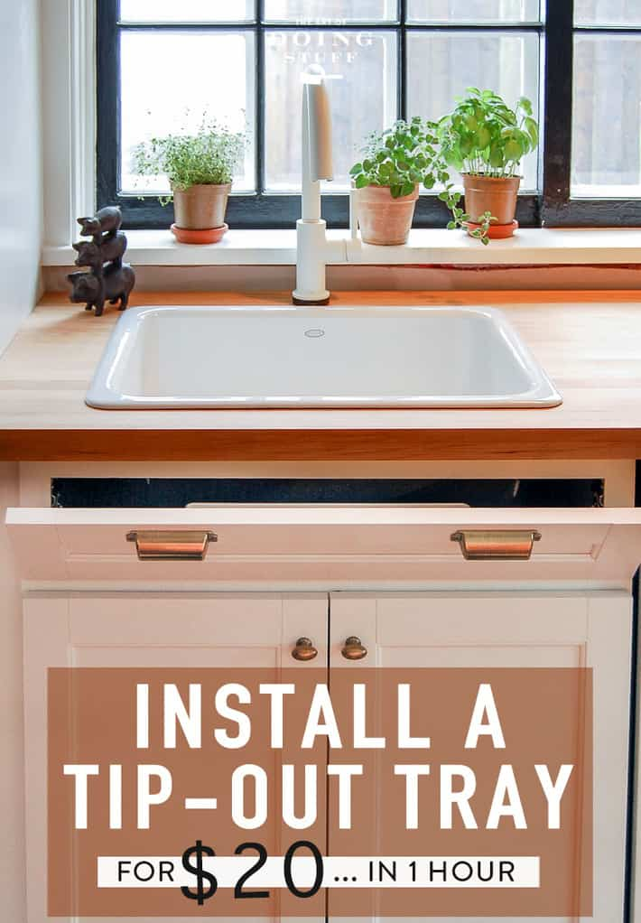 How to Install a Sink Tip Out Tray for Storage.