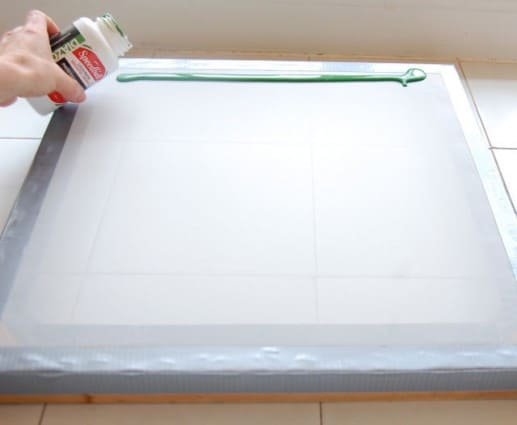 how to make a silk screen without emulsion