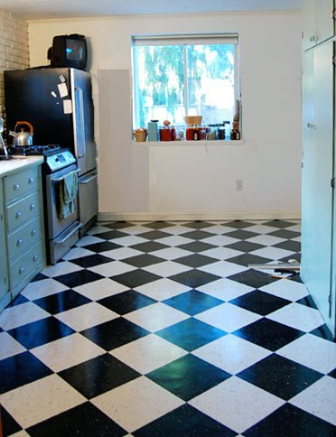 The kitchen floor finishedying vct tile the art of doing armstrong vct tile classic black ppazfo