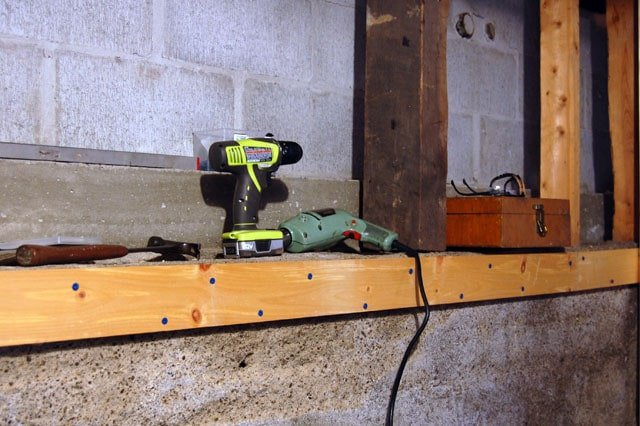how to build cheap storage shelves