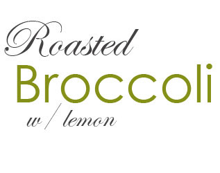 Broccoli W- Lemon