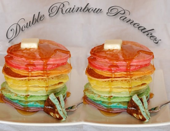 Double Rainbow Pancakes
