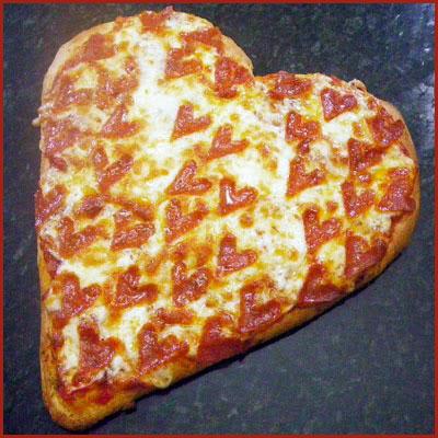 Heart Shaped Pepperoni