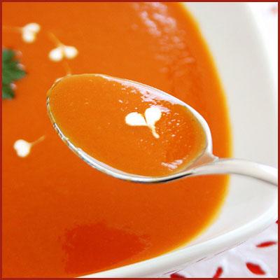 Heart Shaped Soup Garnish