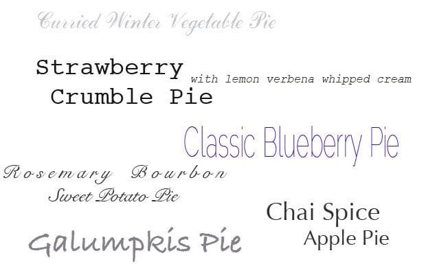 Pie Selections