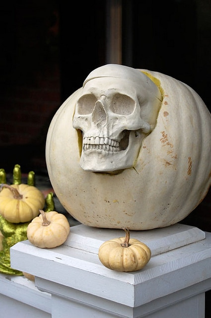 Skull In Pumpkin 2