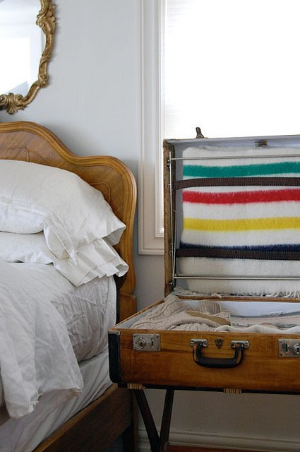 Suitcase Bedside Table 7