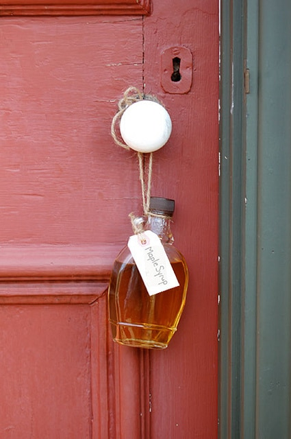Syrup on door