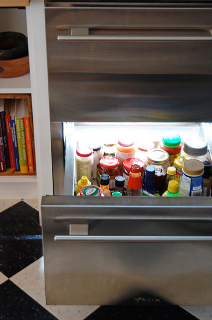 True Glass Front Fridge Bottom Drawer
