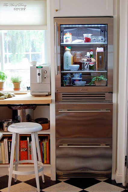 True Glass Front Refrigerator
