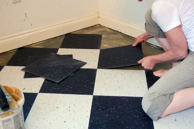 Pleasing The Kitchen Floor Finished Laying Vct Tile The Art Of Download Free Architecture Designs Licukmadebymaigaardcom