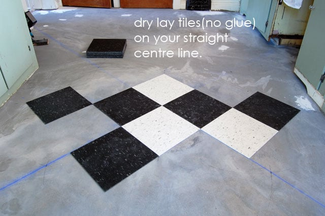 Once You Ve Determined Your Straight Lines Are Good It S Time To Grab Glue And Start Laying Tiles The When Tile Ask For