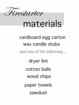 firestarter materials