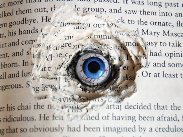 Creepy Halloween Diy Craft Book Eyes The Art Of Doing Stuff