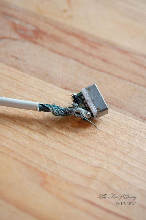 Frayed Power Cord : How to fix a broken computer phone charger the art of