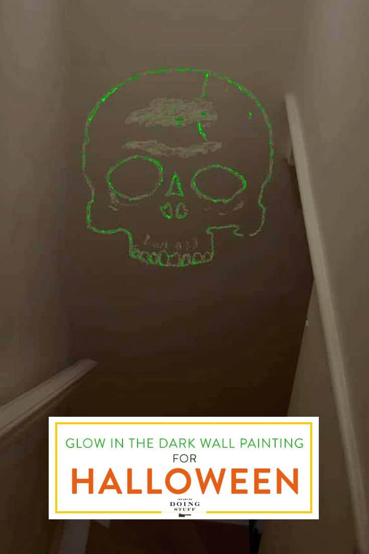 Glow in the Dark Walls. A Fast & Easy Halloween DIY.