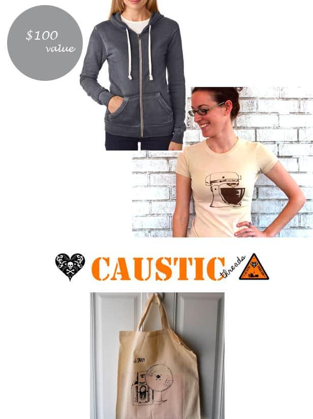 Caustic-threads