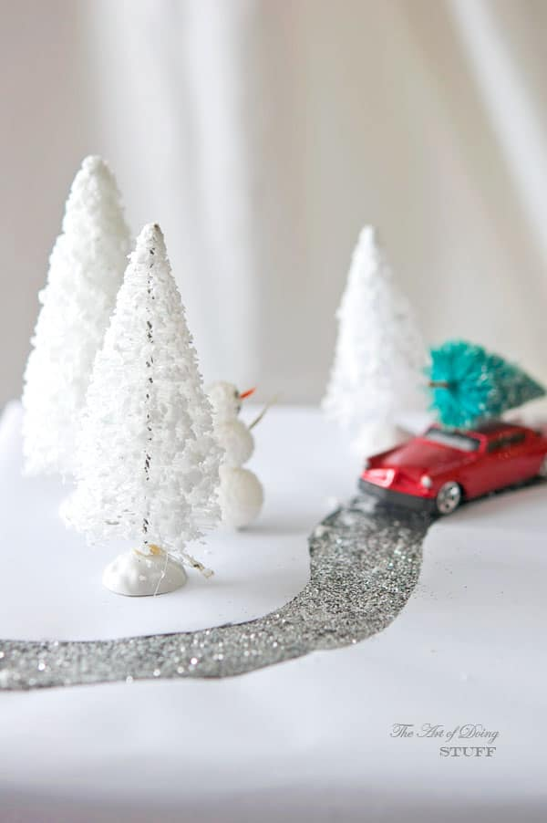 present-diorama-red-car