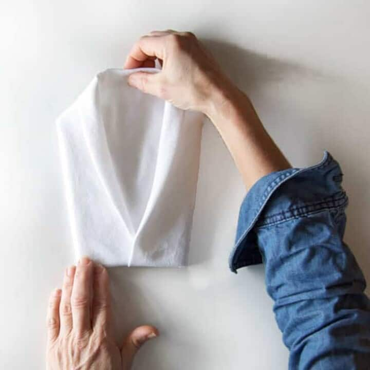 How to fold a tuxedo jacket napkin