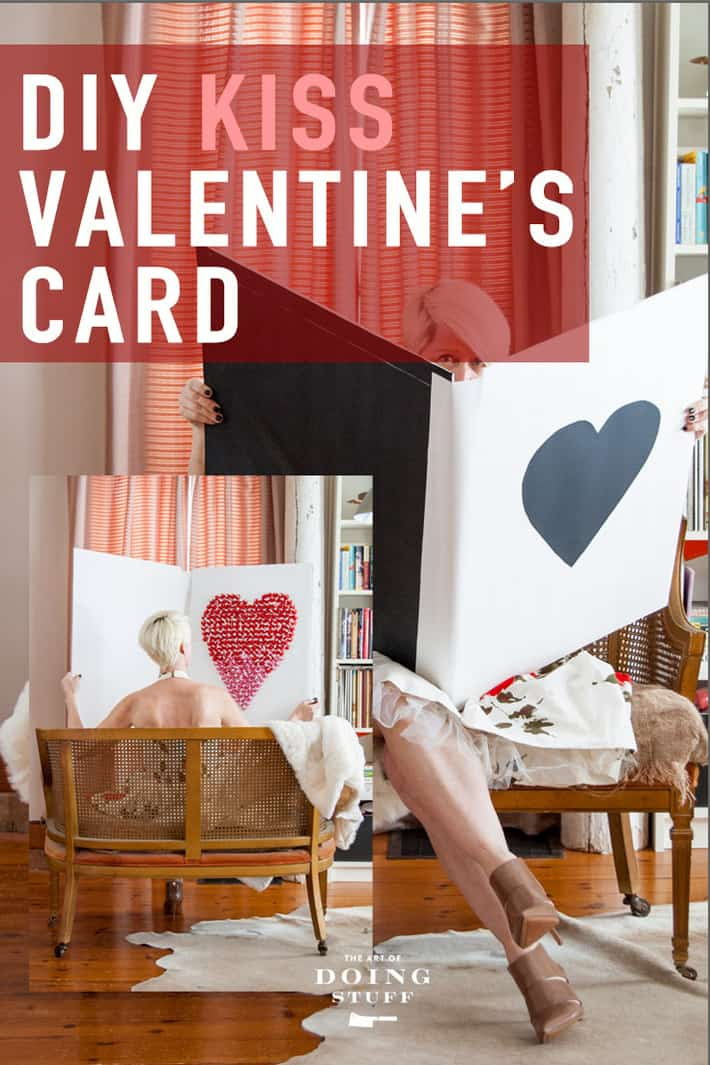 Make this HUGE DIY Valentine\'s Day card made with foam core board and a big heart made out of Hershey\'s Kisses.